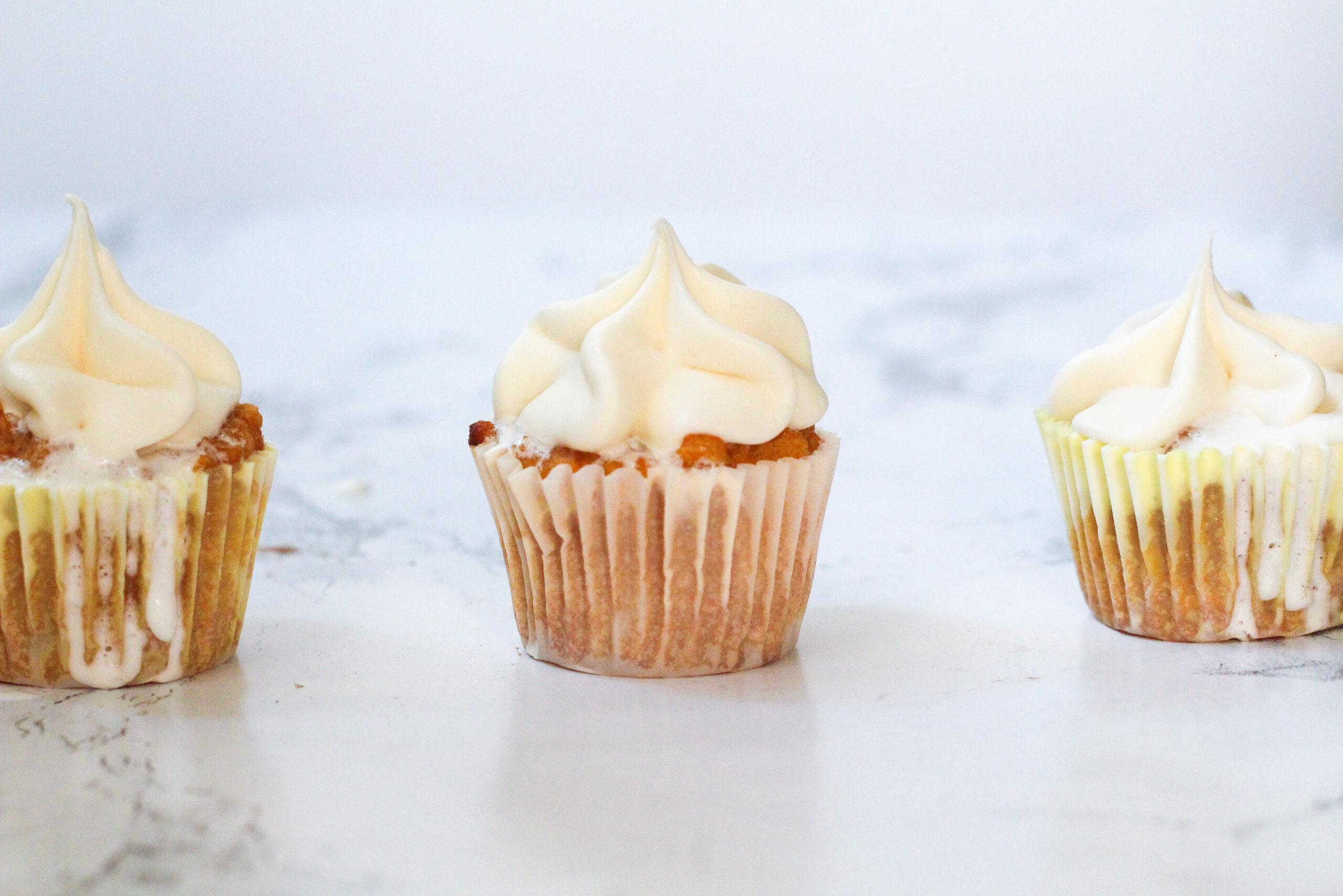Sweet Potato Fluff Cupcakes
