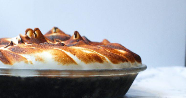 Mocha Meringue Pie