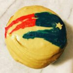 Boston Lager Cupcakes decorated with New England Patriots Logo