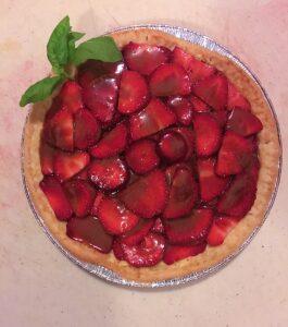 strawberry basil and balsamic tart