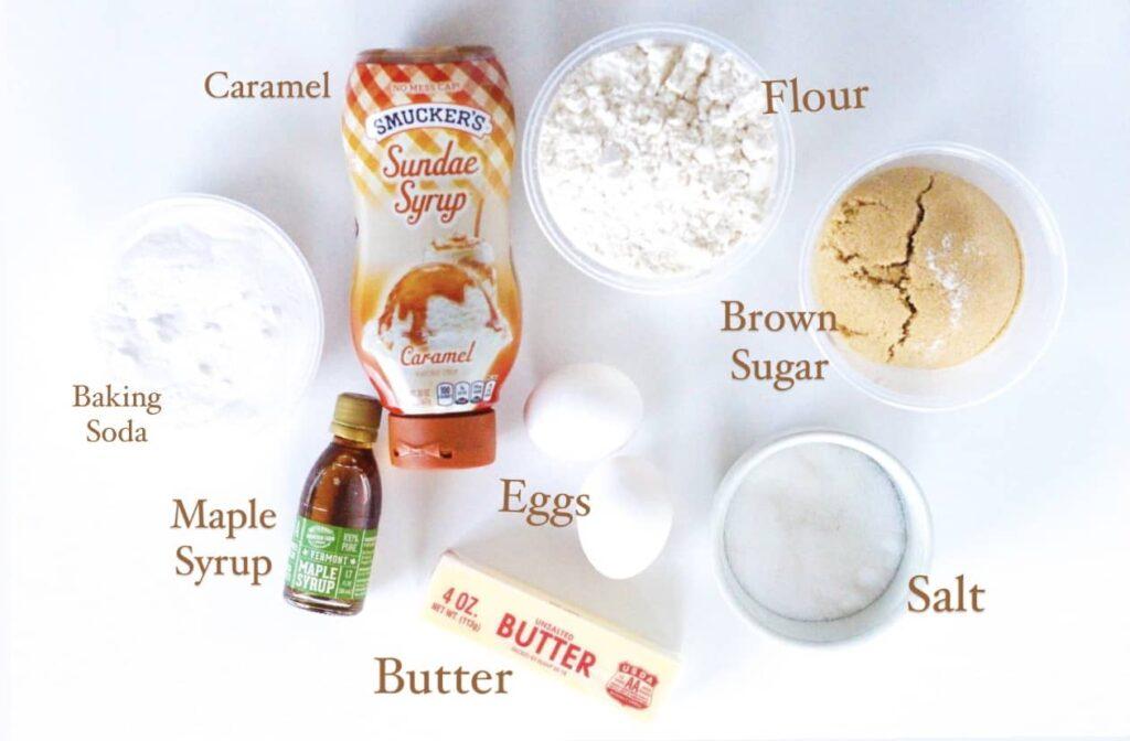 Salted Caramel Maple Bar Ingredients