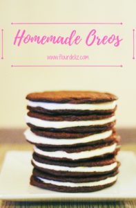 SUPER EASY RECIPE! Homemade Oreos are so much better than the packaged kind! #oreos #homemade #madefromscratch #oreo #homemade #oreorecipe #cookierecipe #easyrecipe #quickandeasy #baker #recipe #bakersgonnabake #makeyourownoreos #chocolate #fluff #marshmallow