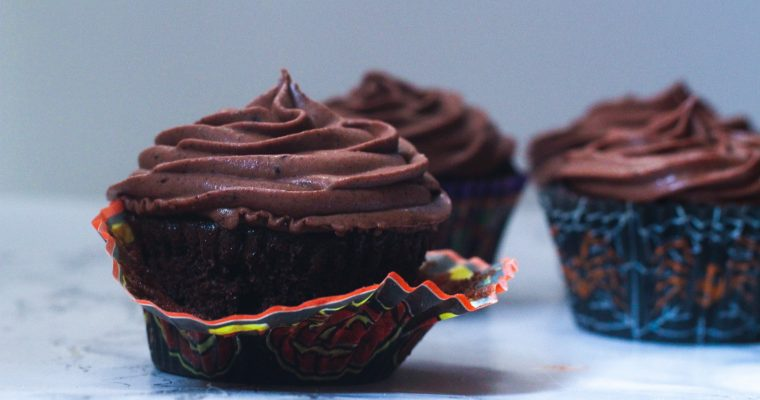 Fiery Chocolate Cupcakes