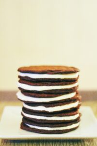 Stack of Fluff Oreos