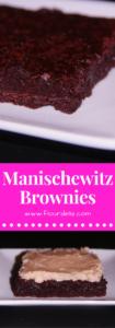 Manischewitz Brownies with Manischewitz Frosting