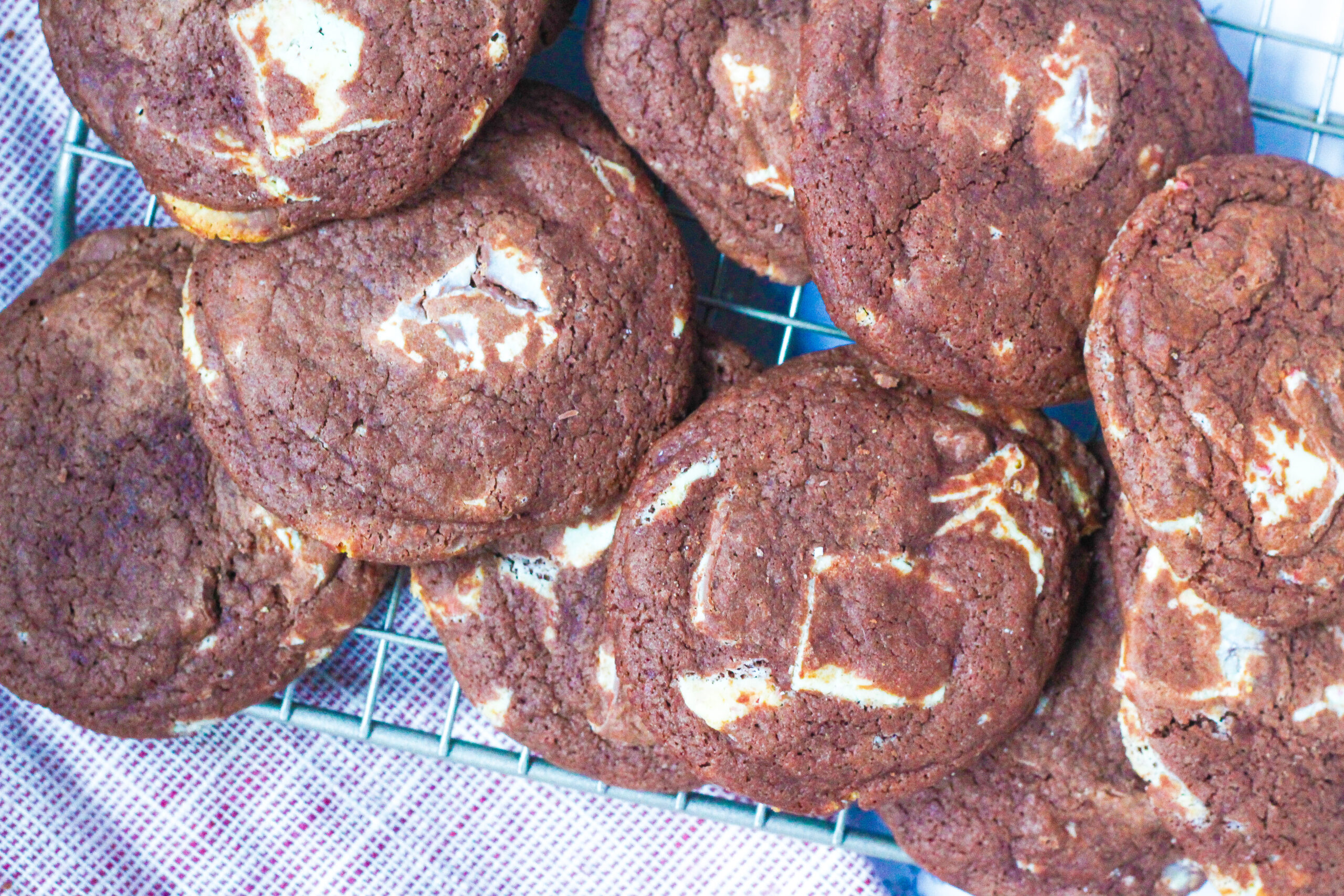 Fudgy Peppermint Chocolate Cookies