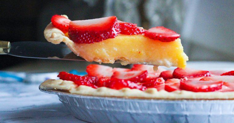 Strawberries & Champagne Pie