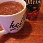 Raspberry Basil Hot Chocolate