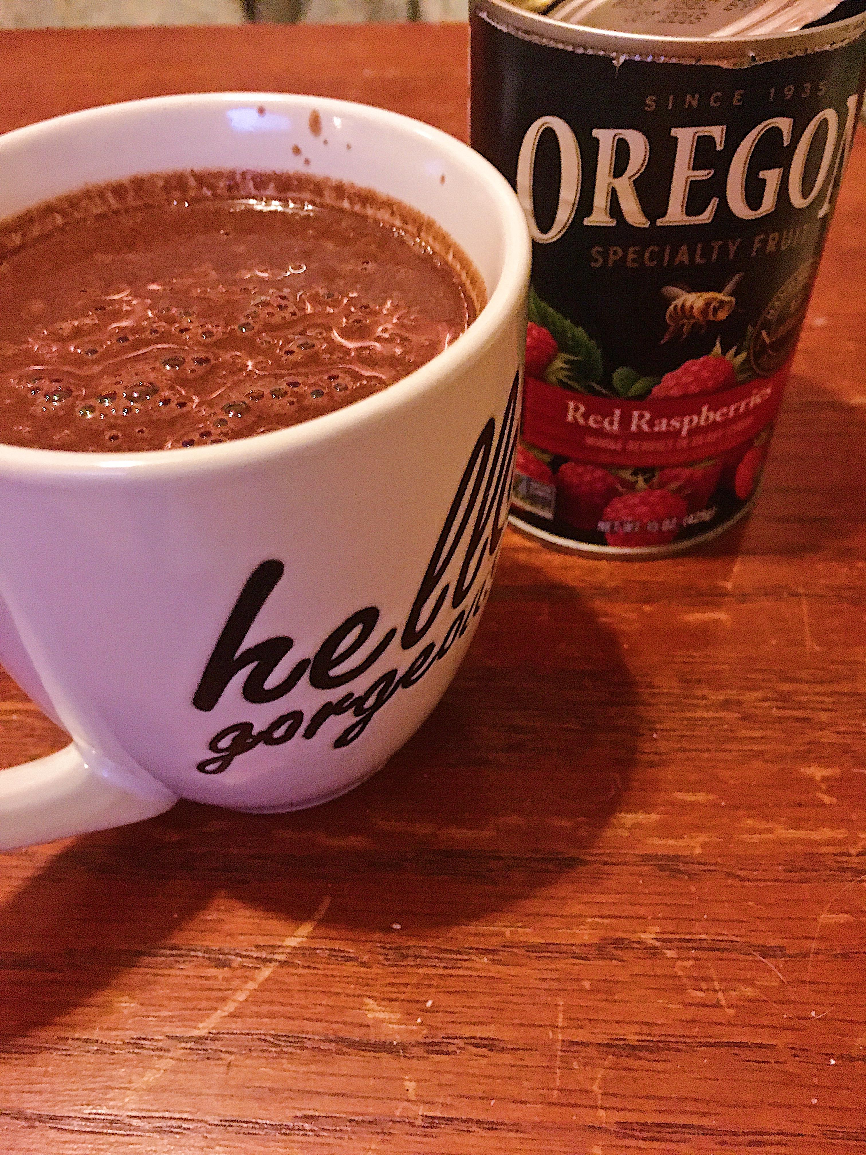 Raspberry Basil Hot Chocolate