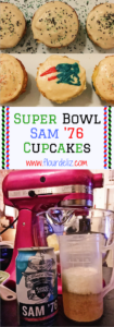 Pats fan? Eagles fan? Cupcake fan?! These Sam 76 cupcakes are the perfect Super Bowl dessert! Bring them to your Super Bowl party, or host a party if you need to! Beer for dessert! Recipe at www.flourdeliz.com! @flour_de_liz #recipe #superbowl #patriots #pats #eagles #easyrecipe #cupcakes #beer #flourdeliz