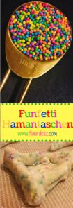 Make Purim more FUN with Funfetti Hamentaschen! Recipe at www.flourdeliz.com! @flour_de_liz #purim #hamentaschen #funfetti #recipe #easyrecipe #madefromscratch #jewfood #jewish #jewishholiday #sprinkles #flourdeliz