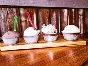 Ice Cream Flight from House Boozy Ice Creams