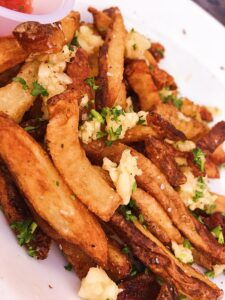 Garlic and Parmesan Fries at Blue Star Brewery