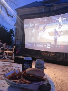 Watching the Final Four at the Friendly Spot