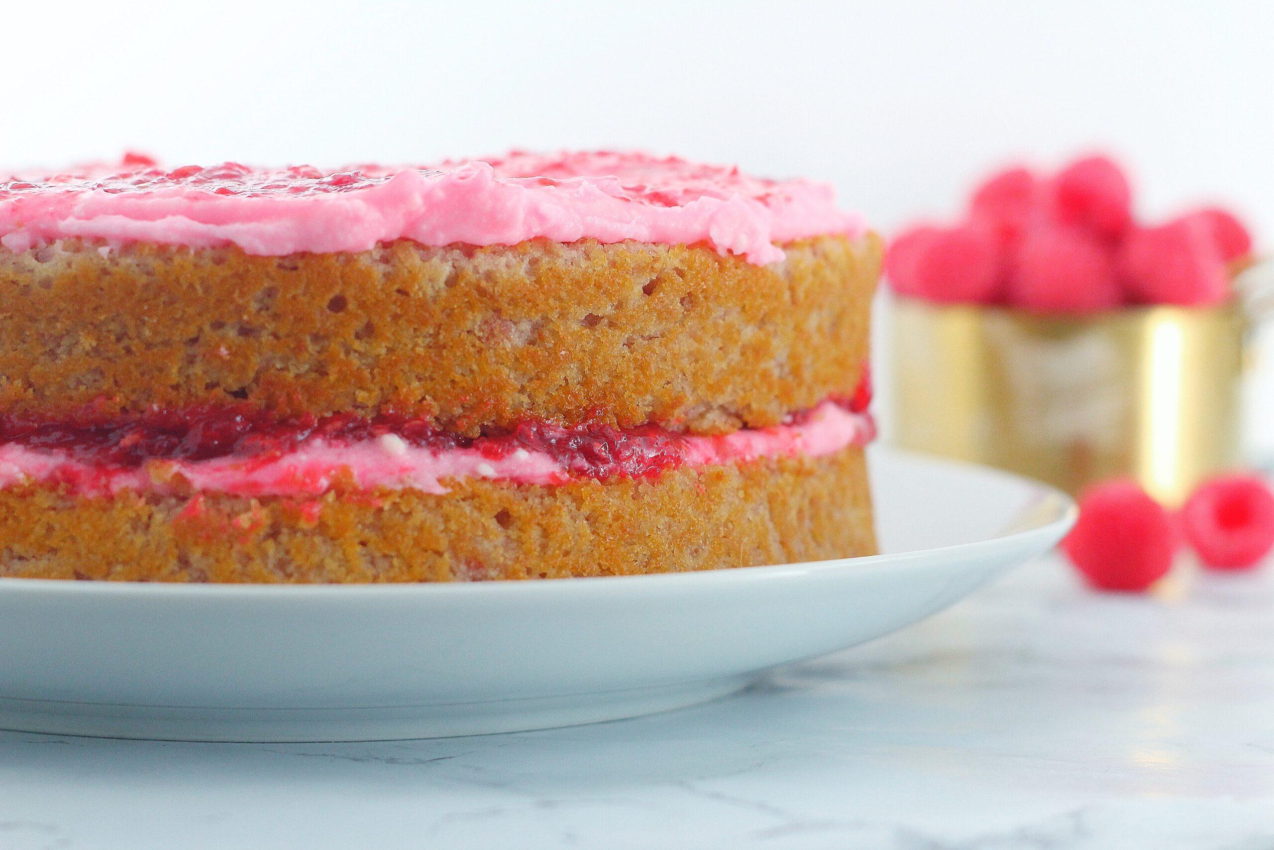 Raspberry Rosé Cake