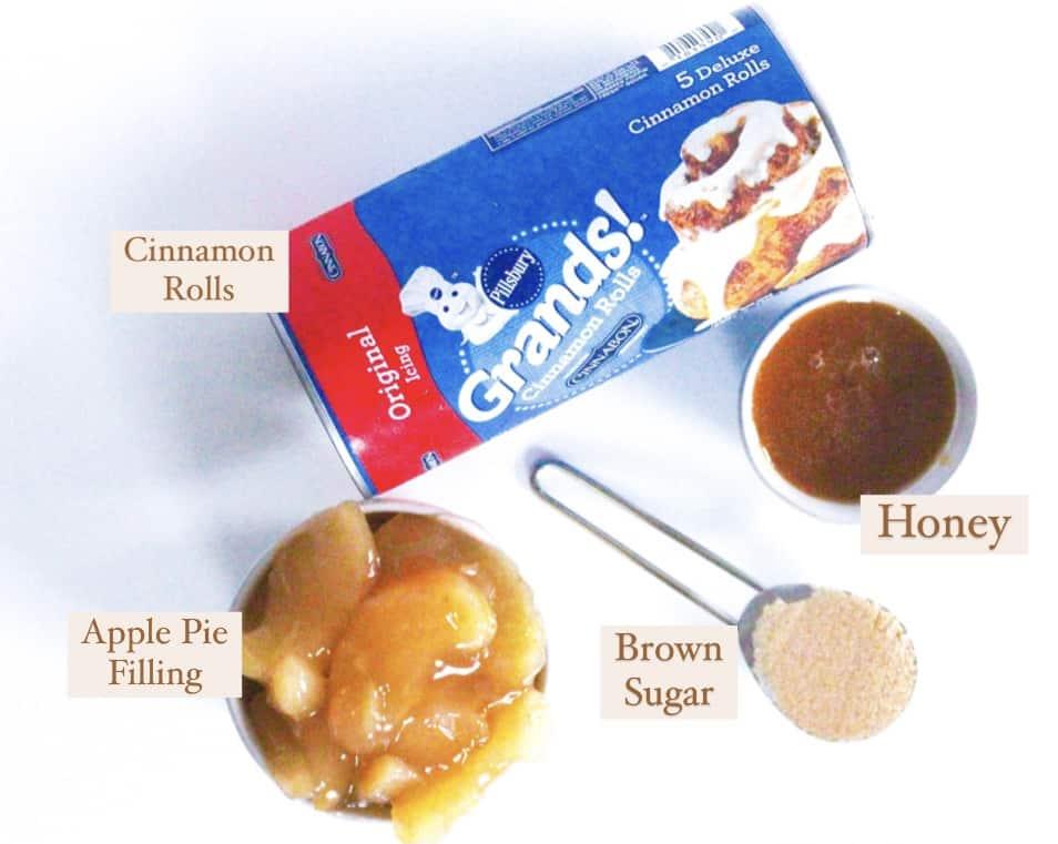 Apples & Honey Cinnamon Roll Ingredients