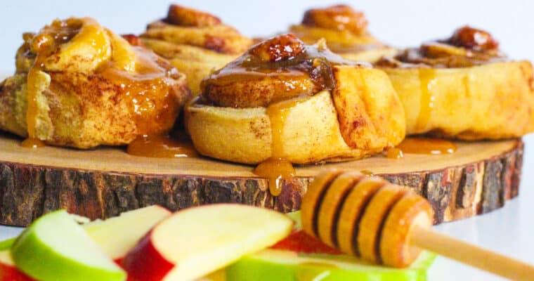 Apples & Honey Cinnamon Rolls