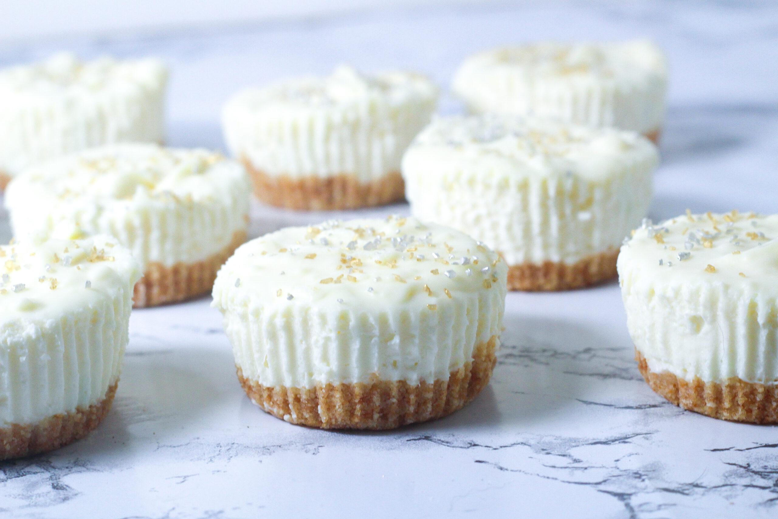 No-Bake Prosecco Cheesecakes