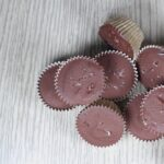 Pile of Nutella cups topped with sea salt flakes