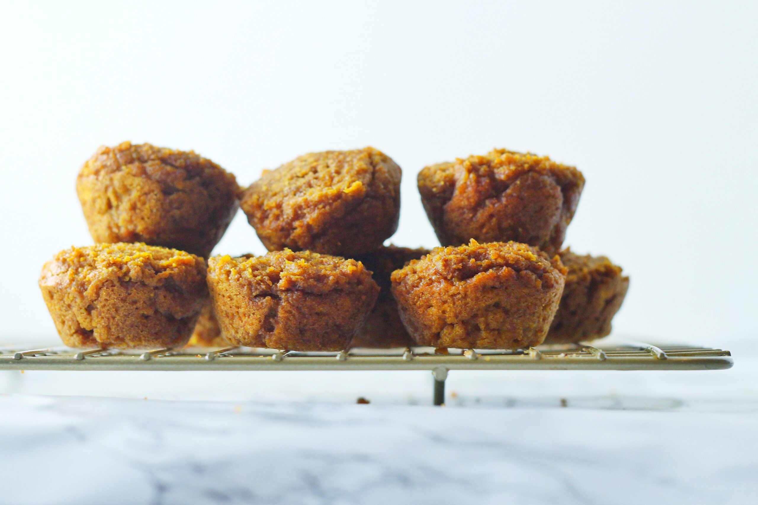 Peanut Butter Pumpkin Sweet Potato Pupcakes