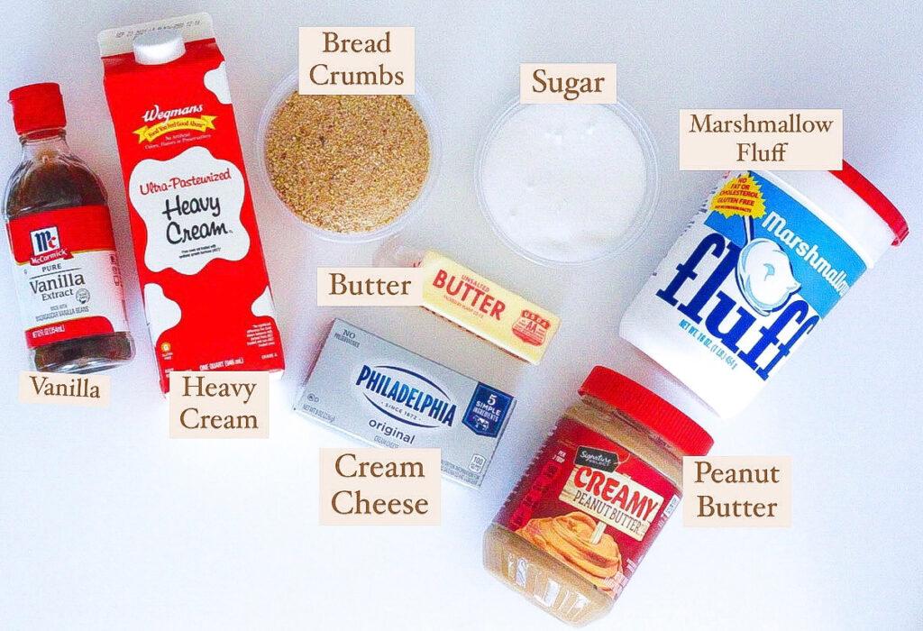 Fluffernutter Pie Ingredients